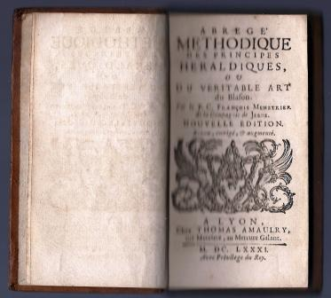 Abrégé méthodique des principes héraldiques du véritable art du Blason, nouvelle édition revu, corrigé et augmenté
