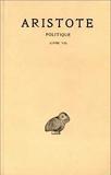 Aristote, Politique, tome 3, 1ère partie - Livre VII - Les Belles Lettres - 01/01/1986
