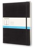 Moleskine - Carnet de Notes Classique Papier Quadrillé - Journal Couverture Rigide et Fermeture par Elastique - Couleur Noir - Très Grand Format 19 x 25 cm - 192 Pages