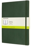 Moleskine - Carnet de Notes Classique Papier à Pages Blanche - Journal Couverture Souple et Fermeture par Elastique - Couleur Vert Myrte - Très Grand Format 19 x 25 cm - 192 Pages