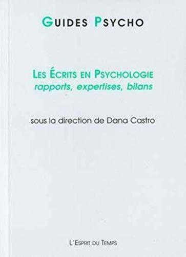 Les écrits en psychologie