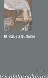 Ethique à Eudème - Vrin - 01/01/1997