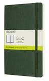Moleskine - Carnet de Notes Classique Papier à Pages Blanche - Journal Couverture Souple et Fermeture par Elastique - Couleur Vert Myrte - Taille Grand Format 13 x 21 cm - 240 Pages