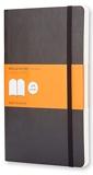 Moleskine - Carnet de Notes Classique Papier à Rayures - Journal Couverture Souple et Fermeture par Elastique - Couleur Noir - Taille Grand Format 13 x 21 cm - 192 Pages