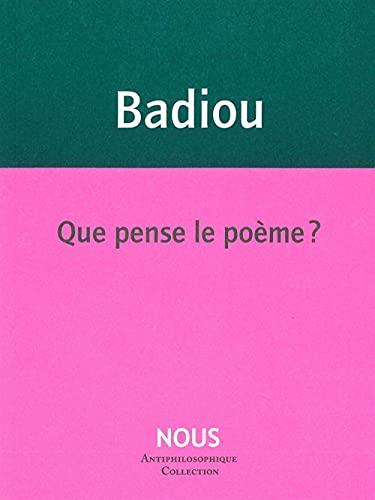 Que pense le poème ?