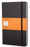Moleskine - Carnet de Notes Classique Papier à Rayures - Journal Couverture Rigide et Fermeture par Elastique - Couleur Noir - Taille Grand Format 13 x 21 cm - 240 Pages