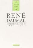Correspondance (Tome 3-1933-1944)