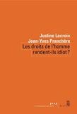 Les droits de l'homme rendent-ils idiot ? - Format Kindle - 8,49 €