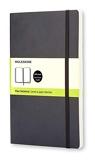 Moleskine - Carnet de Notes Classique Papier à Pages Blanche - Journal Couverture Souple et Fermeture par Elastique - Couleur Noir - Taille Grand Format 13 x 21 cm - 192 Pages