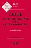 Code constitutionnel et des droits fondamentaux 2022 annoté et commenté en ligne - 11e Ed.
