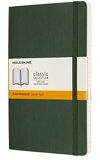 Moleskine - Carnet de Notes Classique Papier à Rayures - Journal Couverture Souple et Fermeture par Elastique - Couleur Vert Myrte - Taille Grand Format 13 x 21 cm - 240 Pages