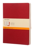 Moleskine Set de 3 cahiers lignés Très grand format Couverture souple 19 x 25 cm Rouge