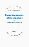 CORRESPONDANCE PHILOSOPHIQUE by LUDWIG WITTGENSTEIN