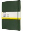 Moleskine - Carnet Classique en papier Quadrillé - Journal à Fermeture Souple et à Fermeture Élastique, Vert Myrtle - Format Extra Large 19 x 25 A4 - 240 Pages