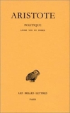 Politique, tome 3-2, Livre VIII - Belles Lettres - 15/02/2003