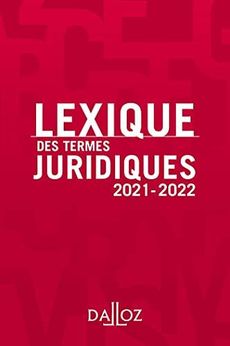 Lexique des termes juridiques 2021-2022