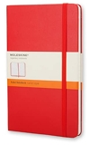 Moleskine - Carnet de Notes Classique Papier à Rayures - Journal Couverture Rigide et Fermeture par Elastique - Couleur Rouge Écarlat - Taille Format de Poche 9 x 14 cm - 192 Pages