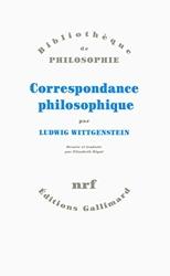 Correspondance philosophique de Ludwig Wittgenstein