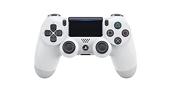 Sony Manette PlayStation 4 officielle, DUALSHOCK 4, Sans fil, Batterie rechargeable, Bluetooth, Glacier White (Blanche)