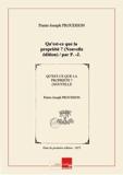 Qu'est-ce que la propriété ? (Nouvelle édition) / par P.-J. Proudhon [Edition de 1873] - Chapitre.com - Impression à la demande - 01/01/2014