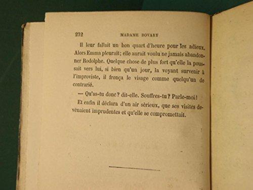 MADAME BOVARY T1 Moeurs de Province ED. LEVY 1857 Rare GUSTAVE FLAUBERT roman