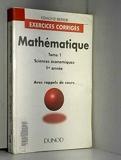 Mathématique Tome 1 - Sciences économiques, 1re année