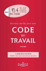 Code du travail annoté, Édition limitée 2019-2020 de Caroline Dechristé