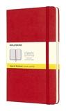 Moleskine - Carnet de Notes Classique Papier à Grille de Pointillés - Journal Couverture Rigide et Fermeture par Elastique - Couleur Rouge Écarlat - Taille Grand Format 13 x 21 cm - 240 Pages