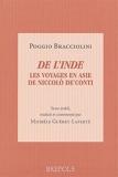 De l'Inde - Les voyages en Asie de Niccolo De'Conti, de varietate fortunae livre IV