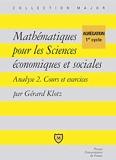 Mathématiques pour les sciences économiques et sociales - Algèbre, cours et exercices