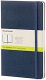 Moleskine - Carnet de Notes Classique Papier à Pages Blanche - Journal Couverture Rigide et Fermeture par Elastique - Couleur Bleu Saphir - Taille Grand Format 13 x 21 cm - 240 Pages