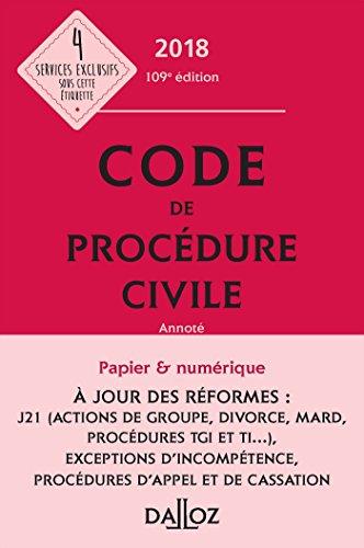 Code de procédure civile 2018, annoté - 109e éd. (Codes Dalloz Universitaires et Professionnels) - Format Kindle - 9782247174812 - 52,99 €