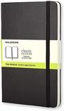 Moleskine - Carnet de Notes Classique Papier à Pages Blanche - Journal Couverture Rigide et Fermeture par Elastique - Couleur Noir - Taille Grand Format 13 x 21 cm - 240 Pages