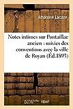 Notes intimes sur Pontaillac ancien - Suivies des conventions avec la ville de Royan