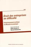 Droit des entreprises en difficulté - Perfectionnement juridique et efficacité économique