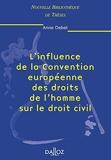 L'influence de la Convention européenne des droits de l'homme sur le droit civil. Volume 15 - Nouvelle Bibliothèque de Thèses