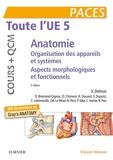 Toute l'UE 5 - Anatomie - Cours + QCM - Organisation des appareils et des systèmes - Aspects morphologiques et fonctionnels