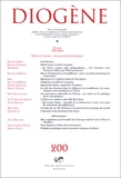 Diogène, numéro 200 - 2002 - D'Est en Ouest - Civilisation en miroir