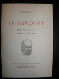 Platon. Le Banquet - . Texte établi et traduit par Émile Chambry. Illustrations de G. Lepape