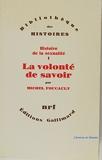 Histoire de la sexualité, Tome 1 La volonté de savoir - 01/01/1986