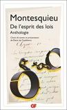 De l'esprit des lois - Anthologie - Flammarion - 20/02/2019