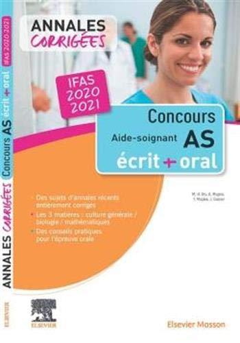 Concours Aide-soignant - Annales corrigées - IFAS 2020