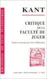 Critique de la faculte de juger - VRIN - 01/01/1984