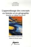 L'apprentissage des concepts en histoire et en géographie - Enquête au collège et au lycée