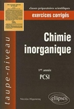 Chimie inorganique - PCSI 1e année, exercices corrigés