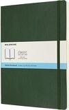 Moleskine - Cahier Classique en Papier à Pois - Journal à Fermeture Souple et à Fermeture Élastique, Vert Myrtle - Format Extra Large 19 x 25 A4 - 192 Pages