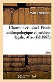 L'homme criminel, criminel-né, fou moral, épileptique. Etude anthropologique et médico-légale. Atlas