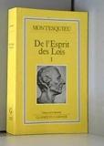 De l'esprit des lois - Garnier - 01/02/1993
