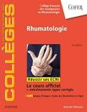 Rhumatologie - Réussir les ECNi - Elsevier Masson - 24/10/2018