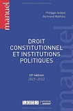 Droit constitutionnel et institutions politiques (2021)